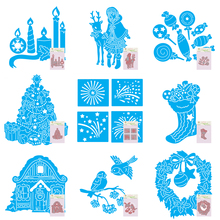 10Styles Merry Christmas Tree Animal Carbon steel Die Cutting Dies Scrapbooking Embossing Cut Stencils DIY Decorative Cards Tool(China)