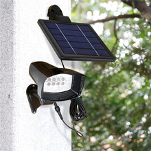 1X New Outdoor Waterproof Solar Flood Light Spot Lamp, Ultra Bright Solar Powered Garden Lawn Wall Lamp, 8Led Solar Panel Lamps