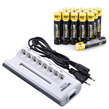 16pCS 1100mAh 1.2V Ni-Mh AAA Rechargeable Battery High Capacity AAA NiMh Batteries + 8Slots AAA AAA Rechargeable Battery Charger(China)