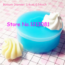 XYL038 14mm Whipped Cream Mold Frosting Silicone Flexible Mold Miniature Sweets Cupcake Fimo Polymer Clay Decoden(China)