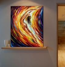 Gold Falls Abstract Nude Painting 100% Hand Painted Canvas Oil Paintings Body Art Wall Pictures for Home Office Cafe Decoration