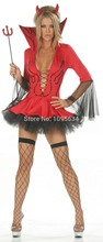 Free PP  Ladies Fancy Dress Costume Red Devil  Halloween Party New Outfit Size Adult S M L XL 2XL