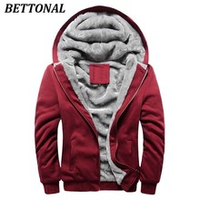 BETTONAL Autumn Thick Velvet Jacket Male Winter Coat Men Casual Hoodies Men moletom masculino Male Jacket Coat Homme(China)