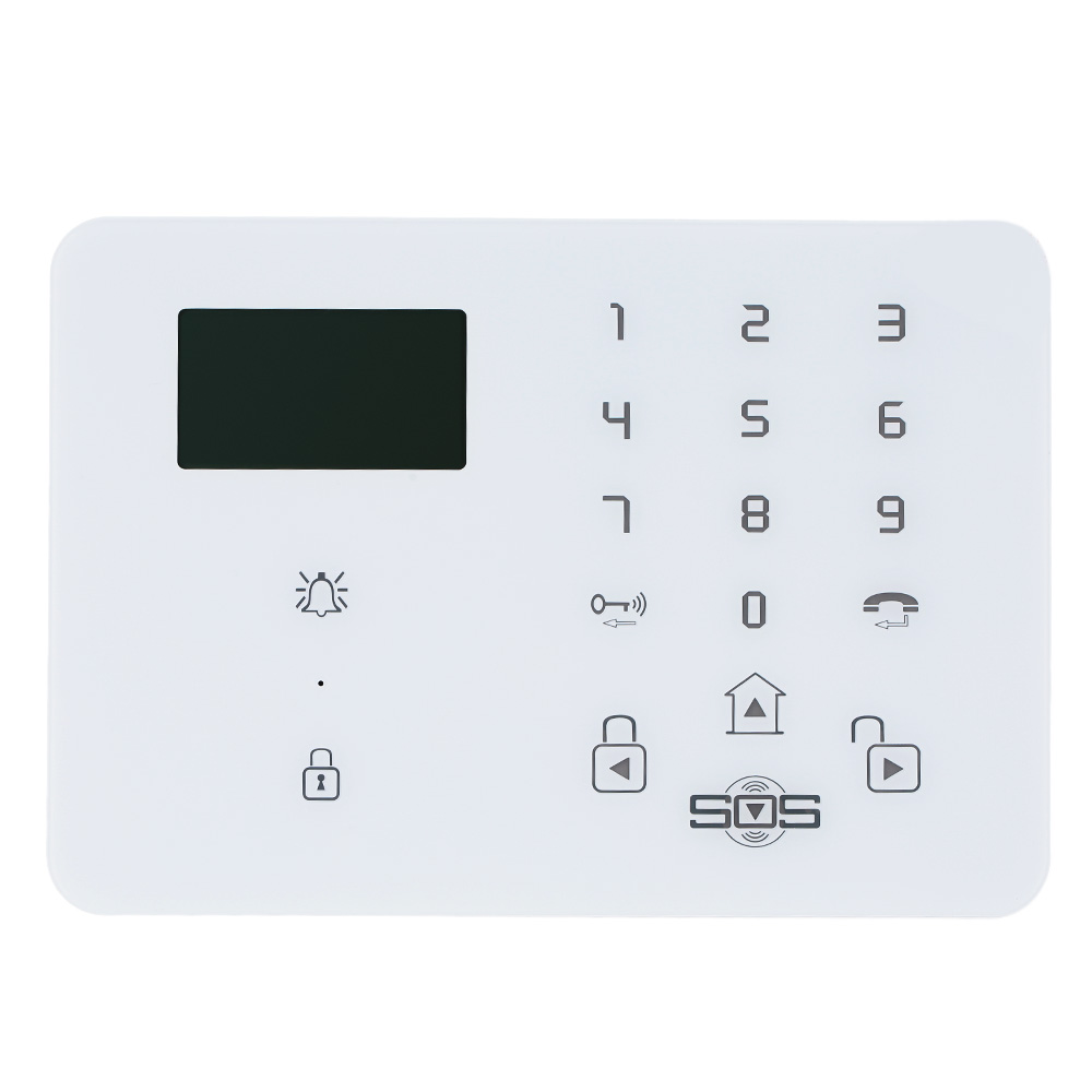 Home Alarm System Wireless GSM SMS Home Security Alarm System with LCD Screen SOS Help For Elderly Care Android Phone Control K9(China)