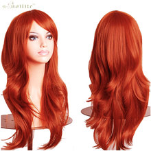 SNOILITE 23inch Hallowee Anime Wig Synthetic Hair Long Wave Cosplay Wig Purple Black Pink Wine Red White Orange Synthetic Hair