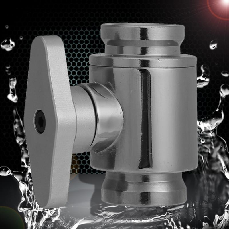 Universal Water Cooling G1/4 Vent Valve Brass Chrome Inner Teeth Water Ball Valve Waterway Control For PC Water Cooling System