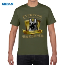 GILDAN men fashion brand t shirt New Summer Style Men's German Shepherd T-shirt - Guardian angel Men T Shirts(China)