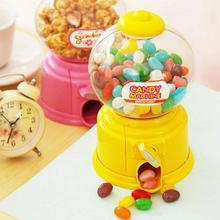 Hot Sell Mini Twist Candy Machine Dispenser Coin Saving Bank Money Storage Box Decorative Toys Christmas New Year Gift for Kids(China)