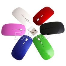 2.4GHz Wireless Ultra Thin Optical Scroll Mouse/Mice USB Receiver For PC Laptop Wholesale#K400Y#