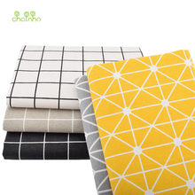 5 Pcs/Lot, Printed Cotton Linen Fabric For Patchwork Quilting Sewing DIY Sofa Table Cloth  Tissue Curtain Bag Cushion Fabric