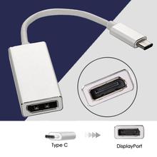 VONETS Mini USB-C Type C USB 3.1 to Displayport Display Port DP Adapter Cable for Apple New Macbook Mac Book Silver(China)