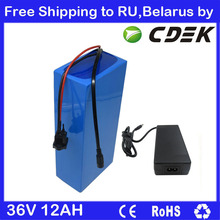 36V Electric Bike battery 36V 12AH Lithium Battery 36 V Ebike battery with 15A BMS 42V 2A charger Free Shipping To RU / Belarus