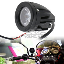 Motorcycle Spot Light Universal 10W 1000LM Motocross Fog Light 6500K LED 4WD for MX Off Road Dirt Bike ATV KTM Duke Yamaha(China)