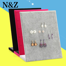 Jewelry Frame Red Black Velvet Earrings Holder Earring Display Stand Jewelry Display shelf Show Case Organizer Tray()