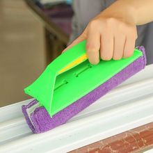 Multi Purpose PP Superfine Fiber Flannel Clean Wipers Microfiber Glass Brush Groove Cleaning Brush Car Glass Cleaner