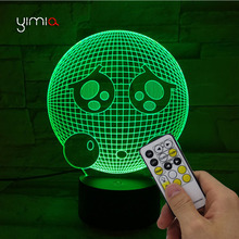 YIMIA Cartoon 3D Lamp Little poor Motion Sensor Usb Led Night Light Lampe luminaria de mesa Music Light Child Baby Bedroom Gift(China)
