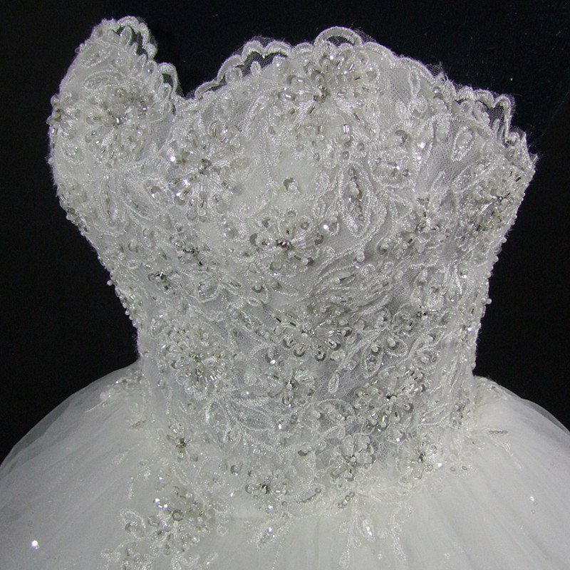 QQ Lover 2018 High Quality Elegant Luxury Lace Wedding Dress Vintage Bandage Plus Size Ball Gowns Vestido De Noiva 3