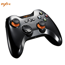 PXN 9603 2.4G Wireless Joystick Gaming Controller For Tablet Smart TV PS3 Game Console Dual Vibration Gamepad with OTG Adapter(China)