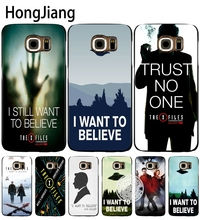HongJiang The X Files I want to believe cell phone case capa para Samsung Galaxy Note 3,4, 5 E5, E7 ON5 ON7 G5108 grande prime G530