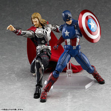 14CM PVC Movable Avengers Union Captain America Thor Action Figure Car Furnishing Articles Model Holiday Gifts Children's Toys