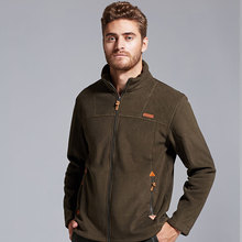 New arrival 2017 fall winter soft shell fleece man jacket Fashion Casual zipper slim Sportswear coats Black army green M-3XL(China)