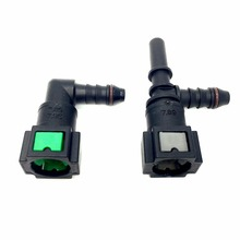 2 pcs/lot 7.89-ID6 Car Styling Universal Quick Connector L K Type for Automotive Fuel Petrol Line Hose Car Accessory
