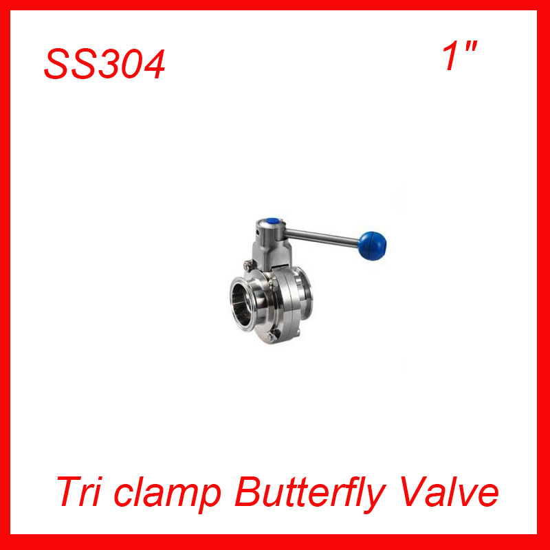 Hot  1 SS304 stainless steel TC manual butterfly valve,Tri-clamp butterfly valve, Sanitary butterfly valve 20pcs/lot<br><br>Aliexpress