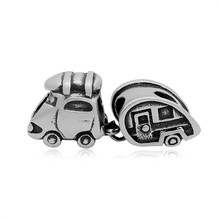 my shape Wagon Stainless Steel European Beads Travel Car Charms Fit Pandora Bracelet Fashion Jewelry Making(China)