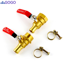 Hose Barb 1inch Male Thread For Oil Water Air Fire ball valve Reel Hose Tail Air Compressor Ball Valve(China)