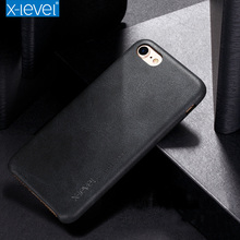 X-Level Vintage Leather Case For Apple iPhone 7 6 6s plus 5 Back Cover PU Funda For Men & Female