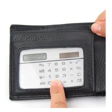 YOC-5* SODIAL(R) Solar Power Credit Card Sized Pocket Calculator(China)