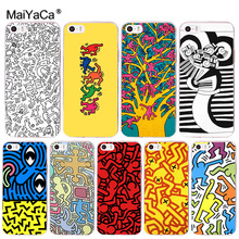 Buy MaiYaCa Keith Haring art Printing Drawing protection phone Cover Case iPhone 8 7 6 6S Plus X 10 5 5S SE 5C 4 4S Coque Shell for $1.36 in AliExpress store