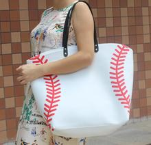 wholesale new 2016 New baseball Kids Cotton Canvas Sports Bags Baseball Softball Tote Bag for Children