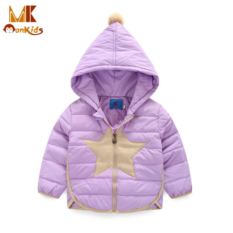 Monkids Girls Jacket Baby Winter Jacket Kids Clothes Boys Girls Hooded Stars Parkas Padded Coat Down Jacket for ChildrenОдежда и ак�е��уары<br><br><br>Aliexpress