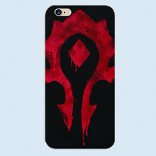 Hot game WOW World of Warcraft horde LOGO NFL FOOTBALL case White cover for Apple 6 6s plus iphone 5 5s 5c 4 4S