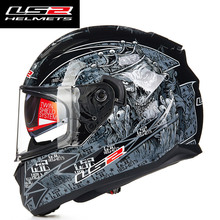 LS2 FF328 full face motorcycle helmet with inner sun visor man racing motorbike helmet DOT approved LS2 moto HELMETS(China)