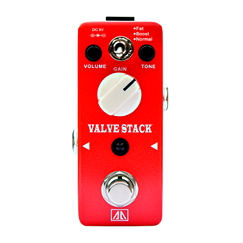 Valve Stack Amp Simulator Effect Pedal True bypass AA Series Classic Tube Distortion Tone Effects for Electric Guitar<br>