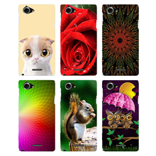 Buy Case Sony Xperia L S36H C2104 C2105 Back Cover Flower Original Hard Plastic Printed Cartoon Cute Cat Owl Animal Phone Case for $2.69 in AliExpress store