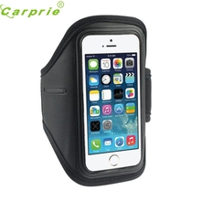 Top Quality Black Adjustable Sport Gym Running Arm Band Armbands Case For iPhone SE 5S 5C 5G 4G 4S For ipod Touch 4G JA29(China)