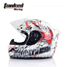 Classic German Tanked Racing motorcycle helmet ABS T112 full face Motorbike vehicle safety helmets warm winter(China)