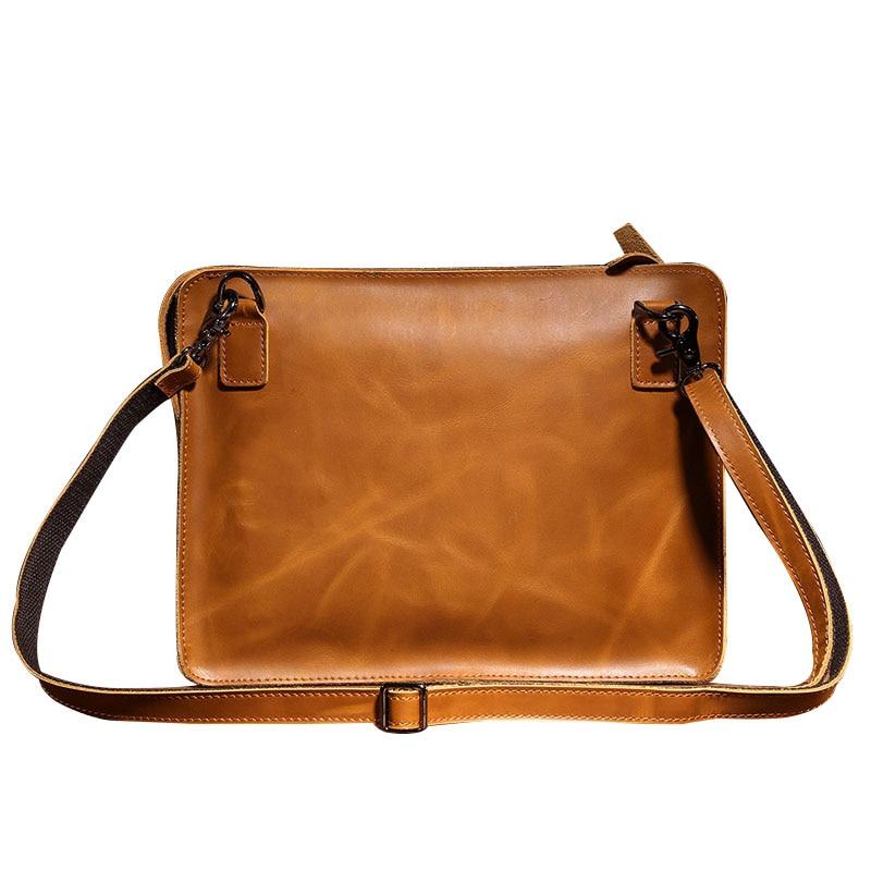 2017 Fashion Mens Genuine Leather Handbag Clutch Bag Mens Shoulder Crossbody Bag  Men Carteras De Hombro Messenger Bags CH028<br><br>Aliexpress