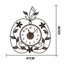 DIY fashion Zooyoo brand Electronic battery colorful with apple shape digital clocks wall clock wall sticker home decor