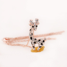 New Fashion Rose Jewelry Chain Giraffe Pendant Necklace for Women Girl Nice Gift