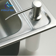 Free shipping Wholesale And Retail Promotion Deck Mount Brushed Nickel Soap Dispenser Kitchen Sink Liquid Soap Dispenser Bottle(China)
