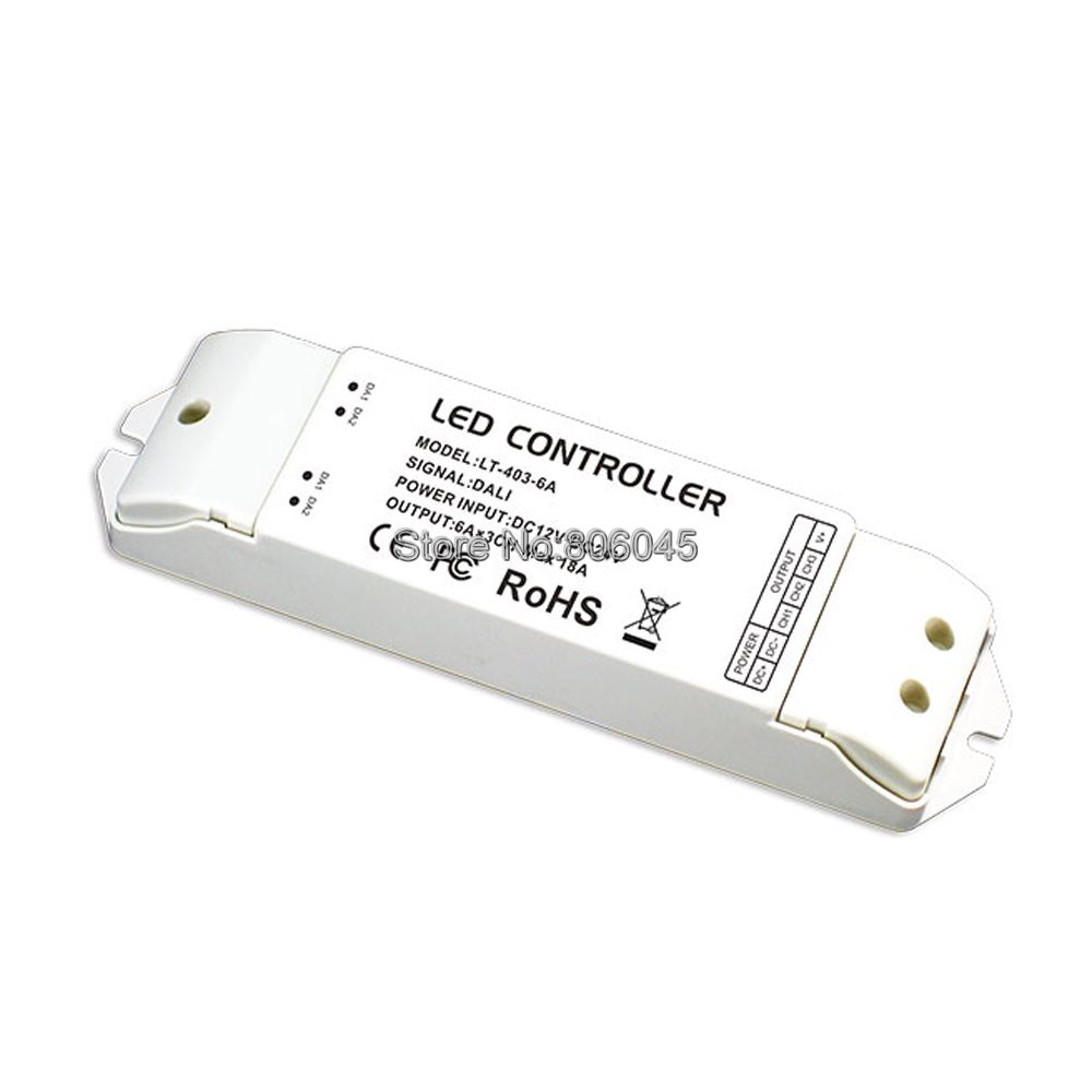 LTECH LT-403-6A DALI LED Dimming Driver DC12V 24V Input 6A*3CH Max 18A Output DALI LED Controller<br>