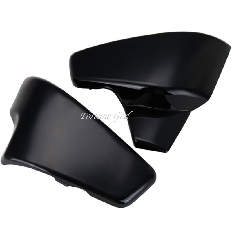 Black Battery Side Cover For Honda VT 600 Shadow VLX Deluxe Steed 400 600 400VLS<br>