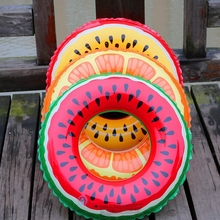 New Pool Float Lovely Watermelon PVC Swimming Ring Child Thicken Swimming Ring Floating Rings Inflatable Toy gift Life Buoy