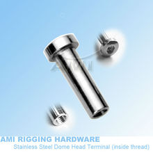 M6 RH *35, Inside thread Dome head tensioner ,T07-06-01,stainless steel 316, wire rope fitting, wire rope accessories,(China)