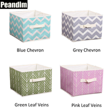 PEANDIM Home Storage Organization Children's Toys Box Printing Non-Woven Fabric Storage Box Desktop Sundries Container