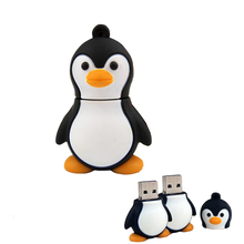 Pendrive 128GB animal USB Flash Drive Memory Stick/thumb 4g 8g 16g 32g 64g penguin key/tiny U Disk minions 16 gb flash pen drive(China)